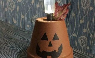 flower pot to solar pumpkin