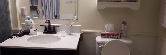 q renovating bathroom replacing with a shower enclosure