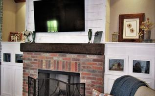 how to create an anique brick fireplace surround