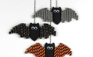 i m batty for these easy halloween paper straw bats