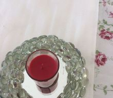 how to make a glass gem candle holder, I still need more gems I ran out of them