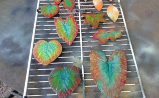 fall leaves created with plaster of paris