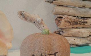 beach inspired sand pumpkins