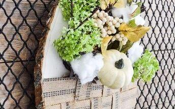 easy diy wood slice fall wreath