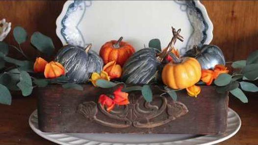 crackle painted pumpkins