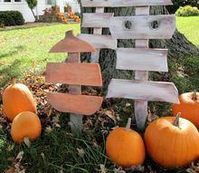 diy scrap wood ghost pumpkin decorations