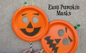 easy paper plate pumpkin mask