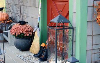 transform your lanterns for halloween using scrapbook paper
