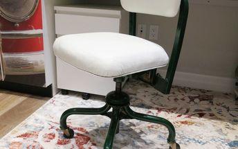 vintage steno chair update