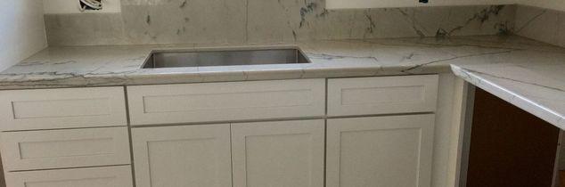 q kitchen back splash installation