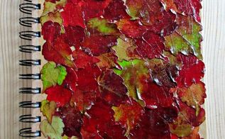 decoupage with fall leaves
