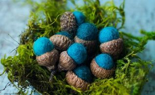 how to make your own felt acorns