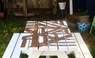 how to paint a fun pattern on a diy picnic table