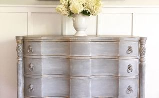 mahogany serpentine dresser upcycle