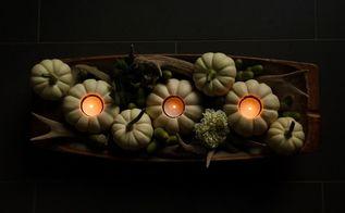 ghost pumpkin tea light centerpiece
