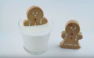 diy gingerbread candle cheap easy gift idea