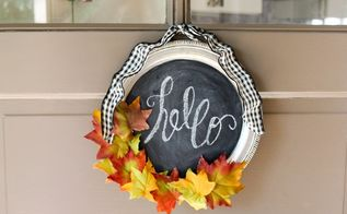 dollar store silver tray wreath