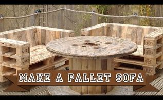 make a simple diy pallet sofa chair from recycled wood