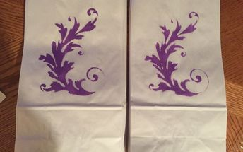 plain white paper bags turned into nice gift bags