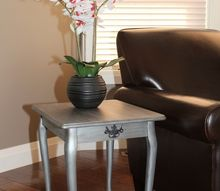 shades of metallic accent table