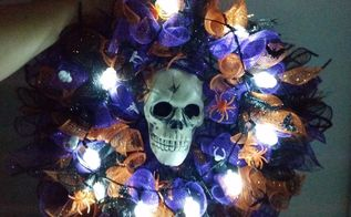 a scary wreath for under 10 wa ha ha