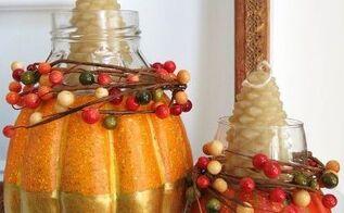festive fall candle holders using pumpkins