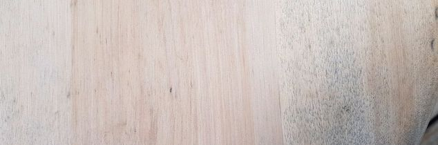 q how to remove mildew spots from an old piano stool