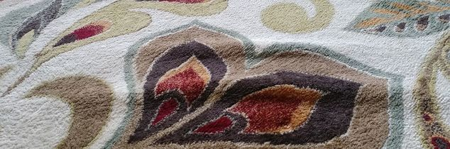 q how to get rid of bumps caused by shampooing on an area rug