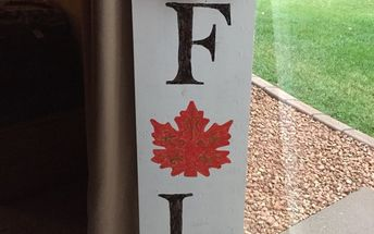 fall wood sign for front door porch stencil flowers