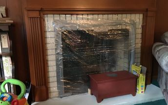 q what can i use to cover a fireplace that s not usable