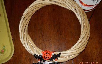 simple pumpkin wreath