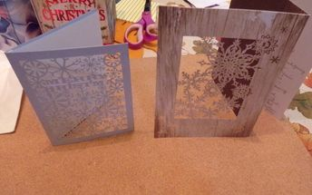 re cycled christmas cards decorating templet