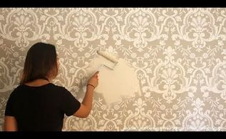 how to stencil a beautifully embossed wall with joint compound