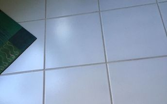 q i want to change the color of my white tile floor but not stencil it l