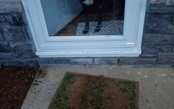 q what s an inexpensive way to make a half step at my front door