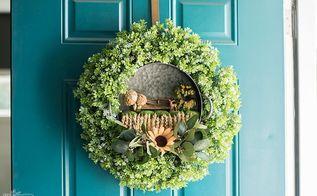 diy fairy garden fall wreath
