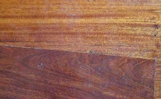 q swirled mahogany hard wood flooring is ruined