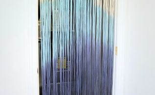 diy dip dyed string curtain