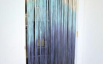 diy dip dyed string curtain