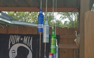 aluminum beer bottle wind chime