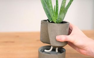 self watering concrete planter