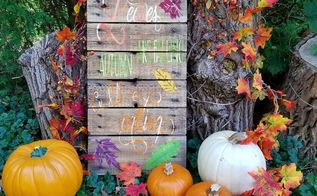 autumn is calling diy sign