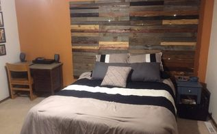 headboard from reclaimed wood