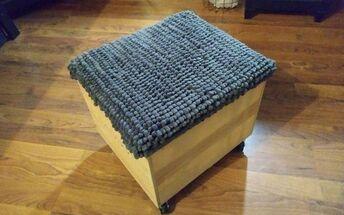 rolling footstool