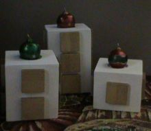big wood block candle holders stands made from scrap wood