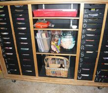 storage solutions for crafters, 52 drawer cabinet