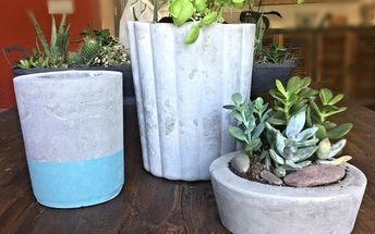 dollar store trash can to a pottery barn inspired planter