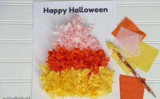 classic tissue paper candy corn craft