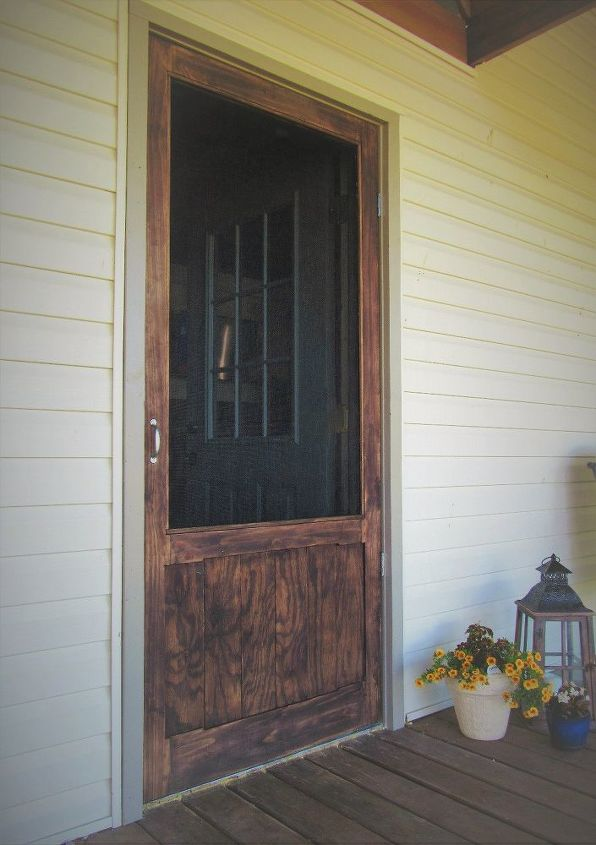 Sturdy Wood Screen Door Hometalk