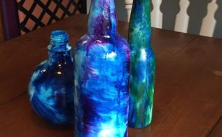 transforming an everyday glass bottle into a conversation piece